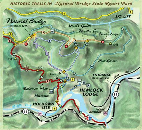 kentucky hiking map 3d map of bridge state park