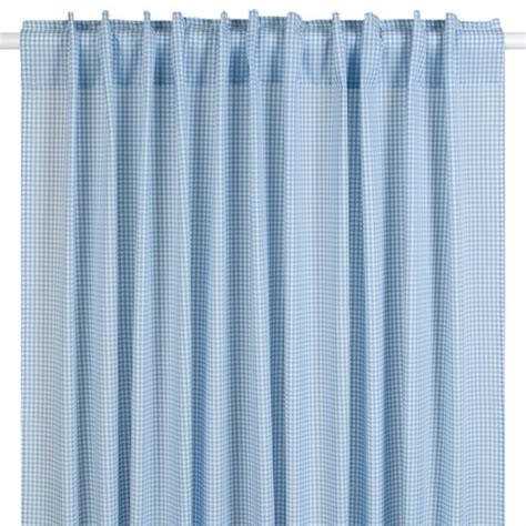 vorhang grau blau gardine vorhang vichykaro hellblau