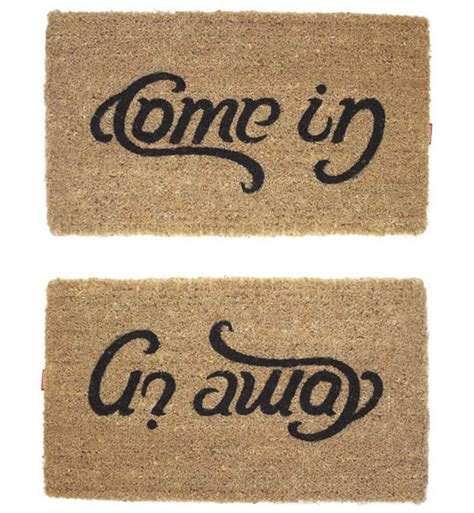 Welcome Go Away Doormat come in go away doormat