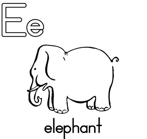 free coloring pages of letter e