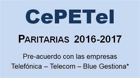 paritarias 2016 2017 uecara elespecialistaplayadelcarmencom convenios y actas cepetel sindicato de los