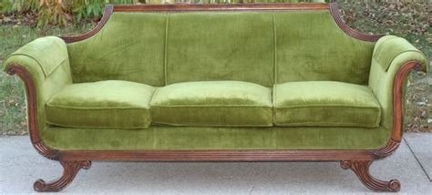green vintage couch antique vintage couch divan sofa green recovered fabric