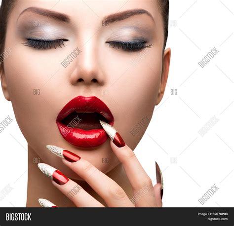 Nail Modele by Fashion Model Image Photo Bigstock