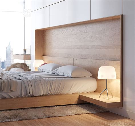 built in headboard ideas 9 creative ideas for adding a nightstand to your bedroom
