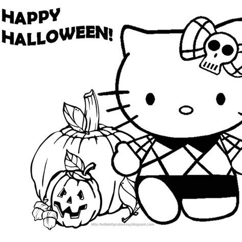 coloring printables hello kitty - Hello Kitty Halloween With ...