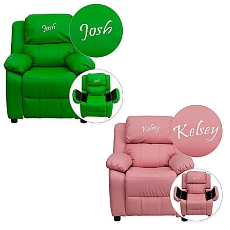 personalized recliners for toddlers flash furniture personalized kids recliner buybuy baby