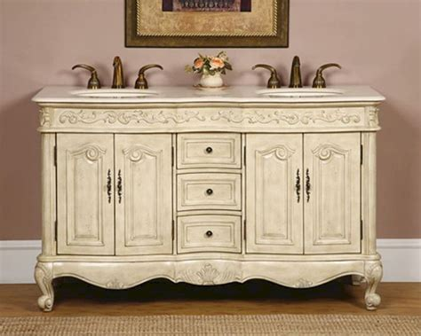 silkroad 58 quot double bathroom vanity crema marfil top