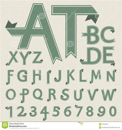 vintage font design online vintage style font design stock vector image of origami