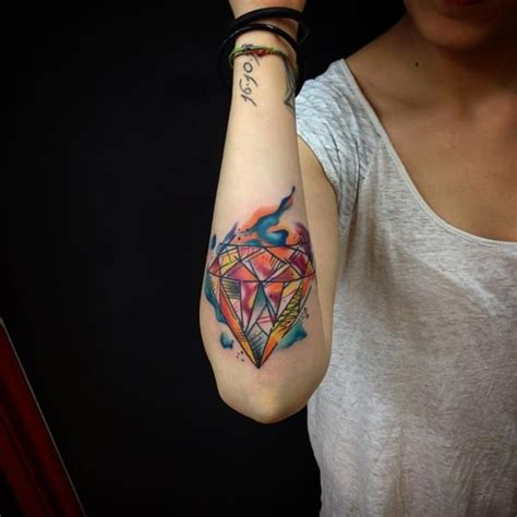 watercolor tattoo diamond 99 artistic watercolor tattoos that are living works of