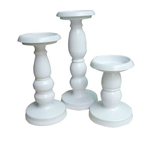 White Candle Holder Set White Candle Holders Centerpiece Pillar Candlestick