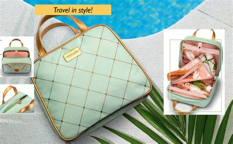 Hyacinth Cosmetic Bag Oriflame lattice toiletry bag this catalogue s deal