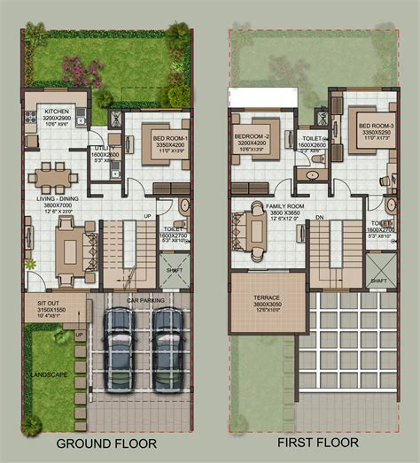 row home floor plans row house site plan house design ideas