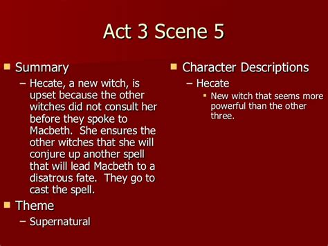themes of macbeth act 1 scene 5 macbeth act 3 notes