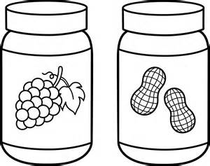 jam coloring pages peanut butter and jelly line free clip