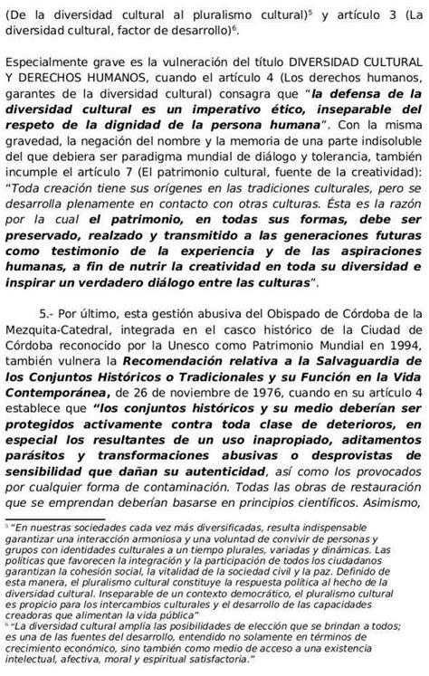 informe 2014 iesalcunesco en castellano escrito de la plataforma mezquita catedral de c 243 rdoba a la