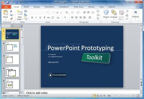 powerpoint prototyping toolkit create ui designs and
