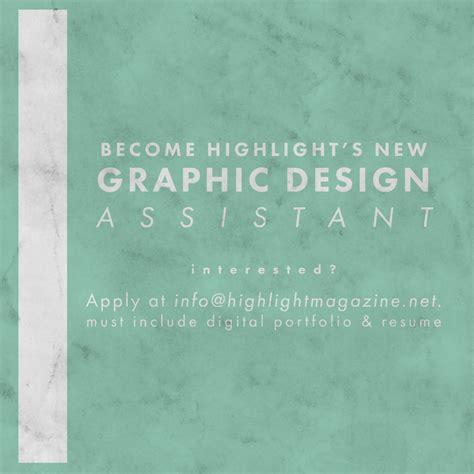 Graphic Design Assistant hiring a graphic design assistant