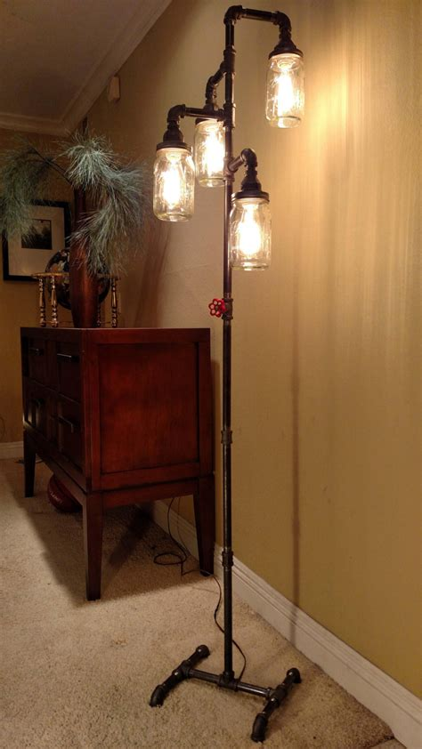 floor lights for living room pipe floor l 4 fixture living room steunk mason jar does