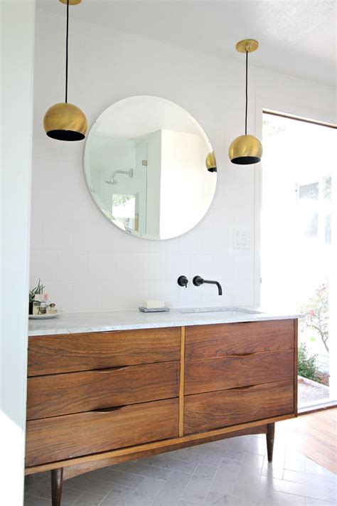mid century modern bathroom vanity ideas 3 vintage furniture makeovers for the bathroom diy