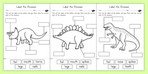 Label The Worksheet label the dinosaur worksheets australia dinosaur