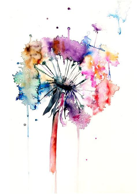 watercolor tattoo dandelion 25 best ideas about dandelion painting on