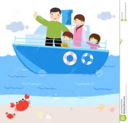 Family in ship cartoon stock image image 14151021
