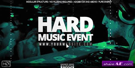 templates after effects music videohive the great music event 187 free after effects