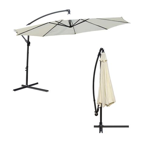 Patio Umbrella Canopy Outdoor 3m Large Parasol Garden Patio Umbrella Canopy Shade Adjustable Ebay