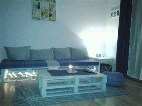 sofa with lights pallet living room sofa with lights and coffee table 99