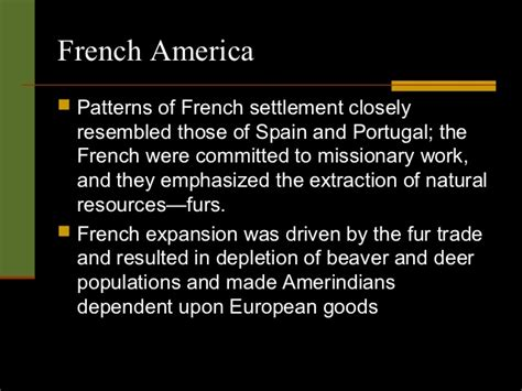 settlement pattern in french ap ch 17