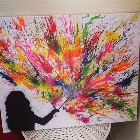 colorful canvas 25 best ideas about melted crayon canvas on
