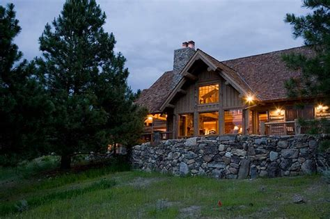 redux house in the mountains rustic combined with modern rocky mountain log homes hybrid log home exterior
