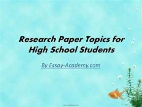 Research Paper Topics Ideas For College Students Research Paper Topics For High School Students