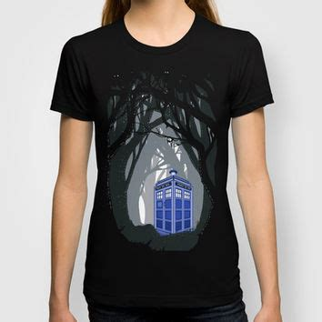 Tshirt Three Second tardis doctor who lost in the woods from society6 made