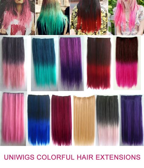 colorful extensions colorful 60cm clip in hair extension uniwigs 174 official site