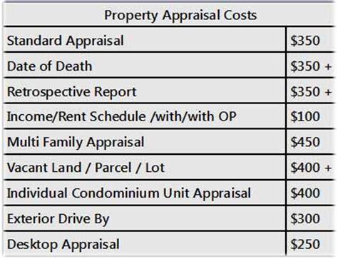 house appraisal cost fowler home appraisals estates probates
