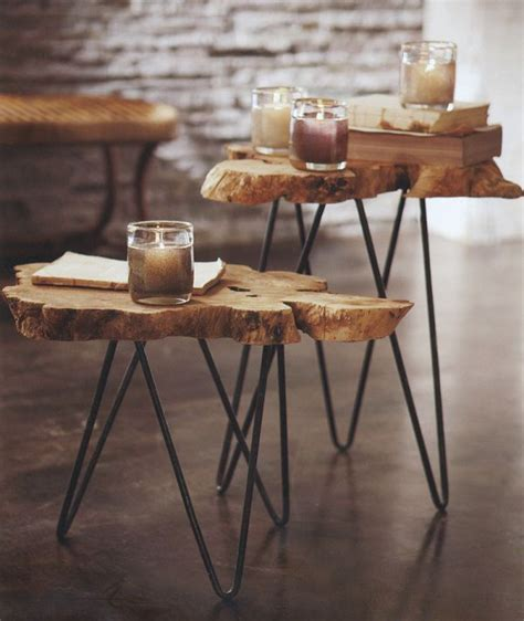 diy side table hairpin legs mid century modern hairpin side tables