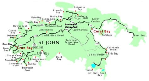 st johns island map st map page