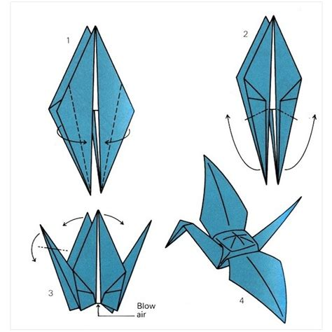 Folding Crane Origami - 10 steps to fold an origami crane cyperwin