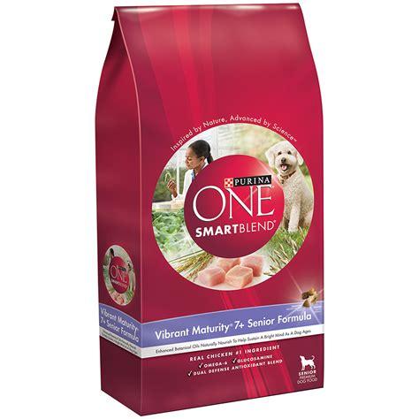 purina one puppy purina one smartblend vibrant maturity 7 senior formula premium food 16 5 bag