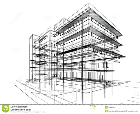 sketch design of building stock illustration illustration of construction 36948343
