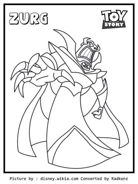 Zurg Coloring Pages radkenz artworks gallery story zurg coloring page
