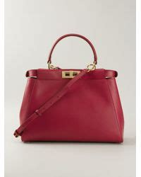 To Go What About A 3530 Fendi Dress by Lyst Fendi Large Peekaboo Tote In