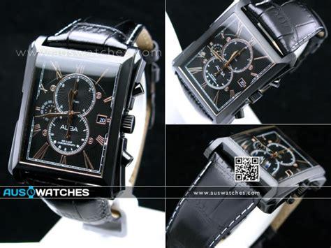Alba An 4034 35 Leather buy seiko alba chronograph leather af8l69x1 black gold
