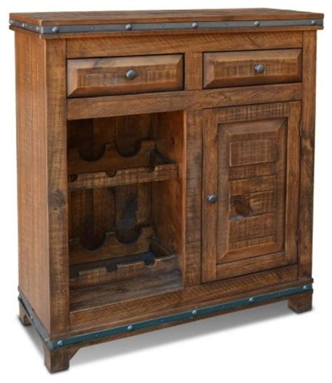Distressed Wood Bar Cabinet Rustic Distressed Reclaimed Wood Wine Cabinet With Wine Rack And Cabinet Door Rustic Wine