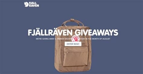 Kanken Giveaway - enter the fj 228 llr 228 ven k 229 nken backpack giveaway 2017 winzily