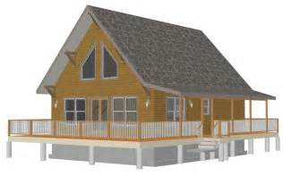 Cottage House Plans With Loft by Cabin Plan With A Loft Bunkhouse Plans