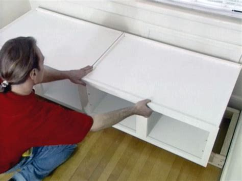 how to build a window seat diy building a window seat from cabinets plans free