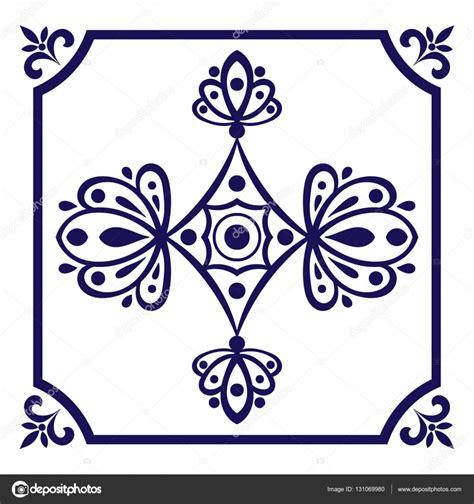 pattern design netherlands delft blue tile vector delft dutch tiles pattern with