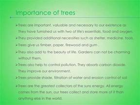 Go Green Save Trees Essay by Importance Of Trees